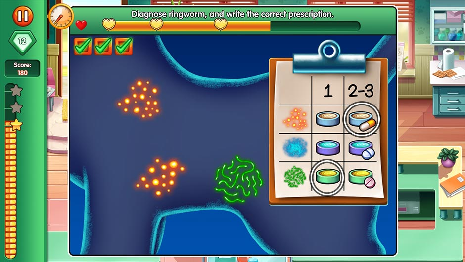 Dr. Cares - Family Practice Collector's Edition - Minigame - Diagnose Ringworm