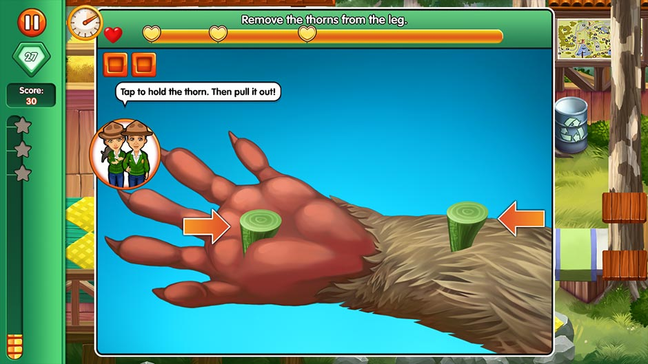 Dr. Cares - Family Practice Collector's Edition - Minigame - Remove the Thorns
