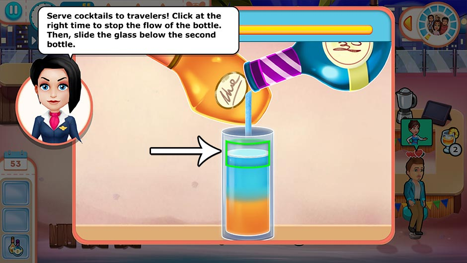Amber's Airline - 7 Wonders - Pour Drinks Minigame