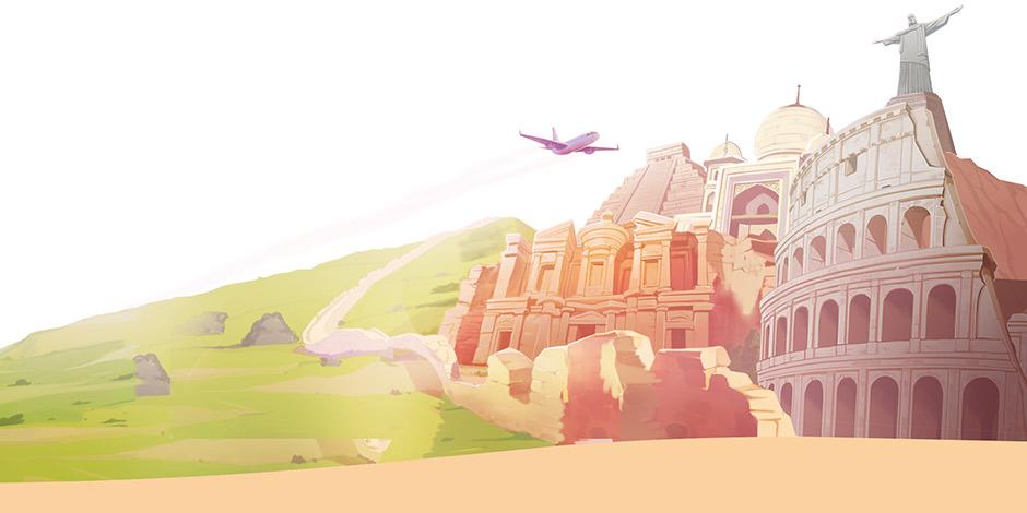 Amber's Airline - 7 Wonders - Wonders Tour Art
