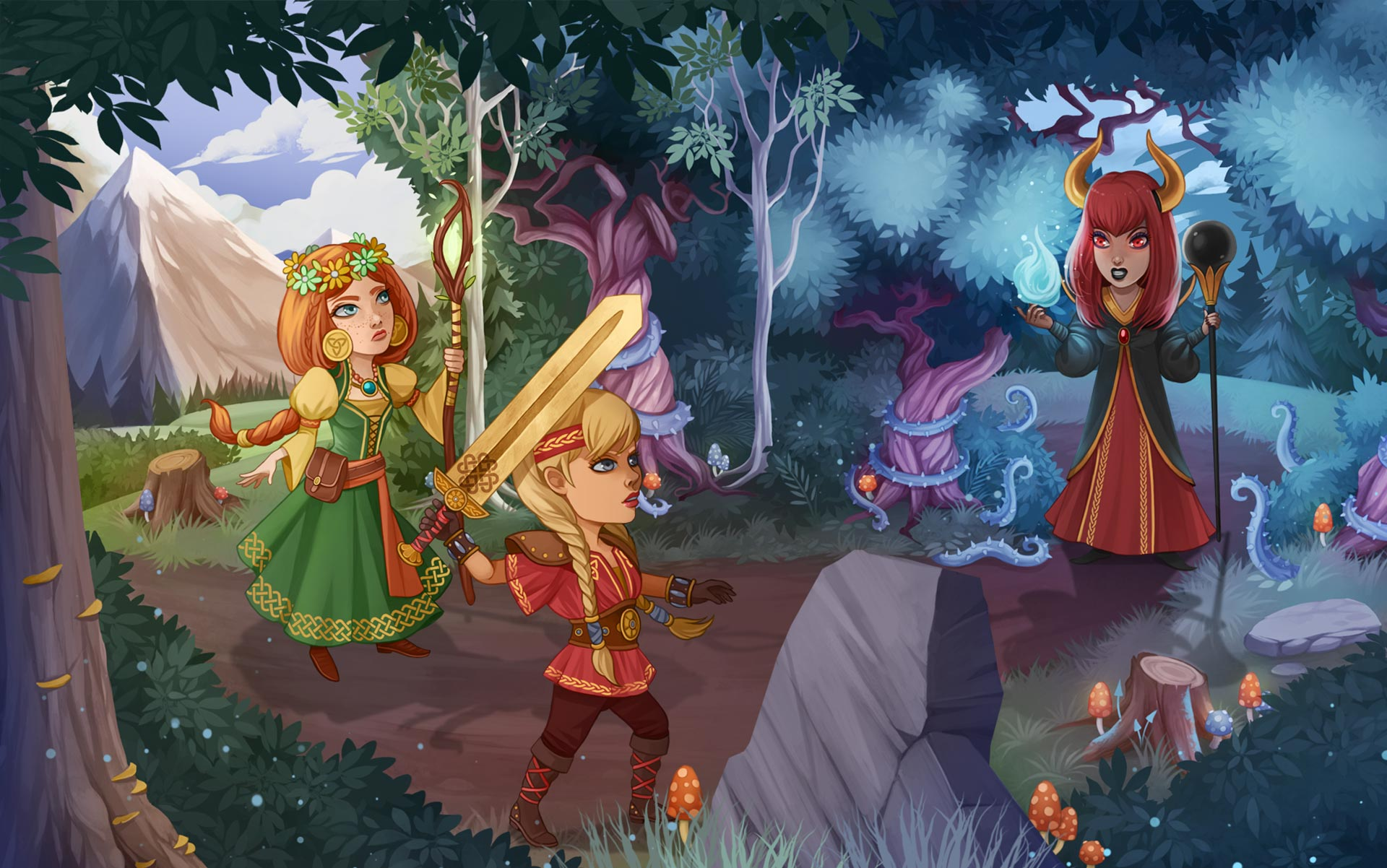 Time Management Games - Viking Sisters - GameHouse