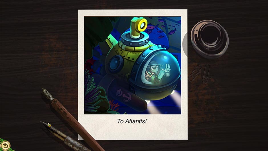 Alicia Quatermain 4 - Da Vinci and the Time Machine - Puzzle Solution - To Atlantis