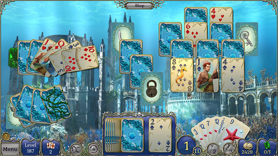 Coming Soon! Jewel Match Atlantis Solitaire - GameHouse Premiere Exclusive