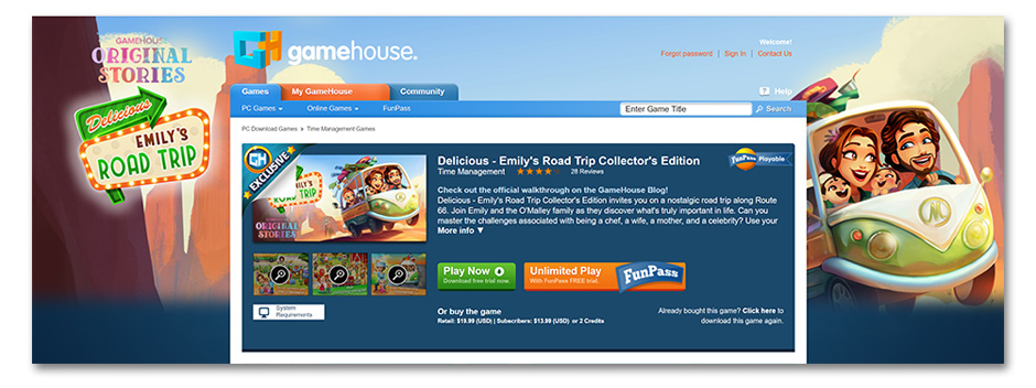Delicious - Emily's Road Trip - GameHouse
