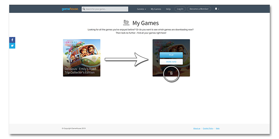 Step 3 - How to Delete a Game - GameHouse