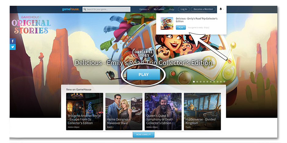 Step 4 - How to Redownload Delicious - Emily's Road Trip - GameHouse