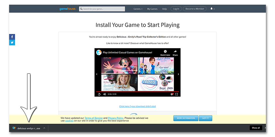 Step 5 - How to Reinstall Delicious - Emily's Road Trip (New Players) - GameHouse