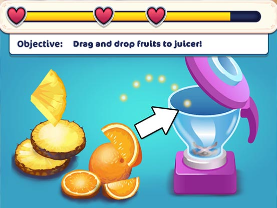 Hotel Ever After - Ella's Wish Official Walkthrough - Minigame - Juice the fruits!
