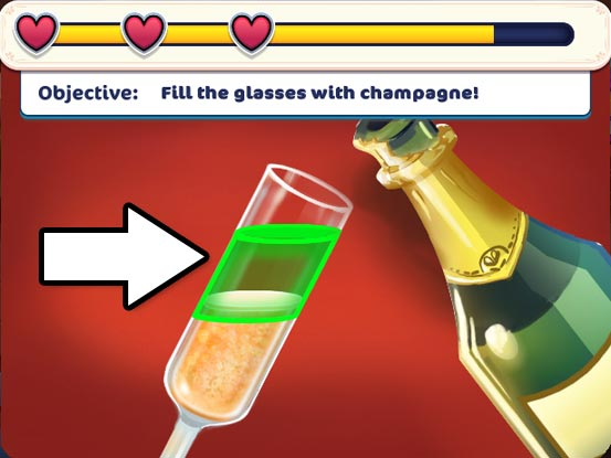 Hotel Ever After - Ella's Wish Official Walkthrough - Minigame - Pour the champagne!