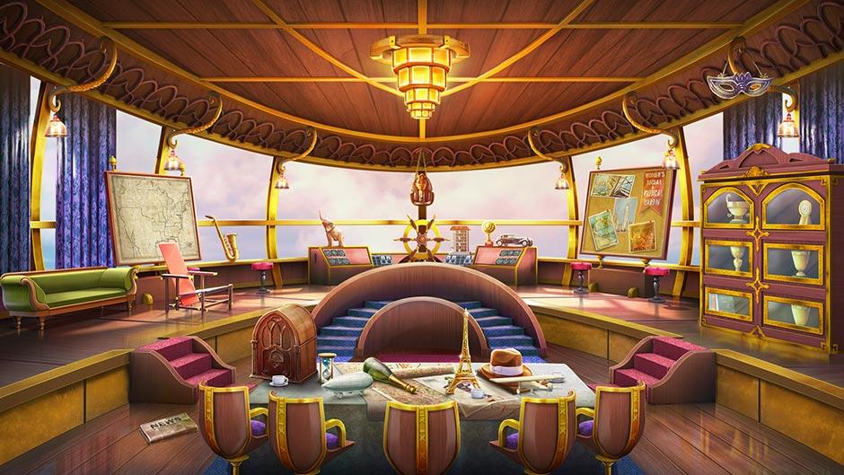 Zapplin Time! The Roaring Twenties - Zapplin Interior - GameHouse Exclusive Preview