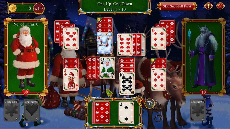 Santa's Christmas Solitaire 2 - GameHouse