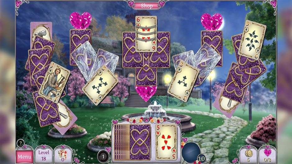 Jewel Match Solitaire - L'Amour - Gamehouse