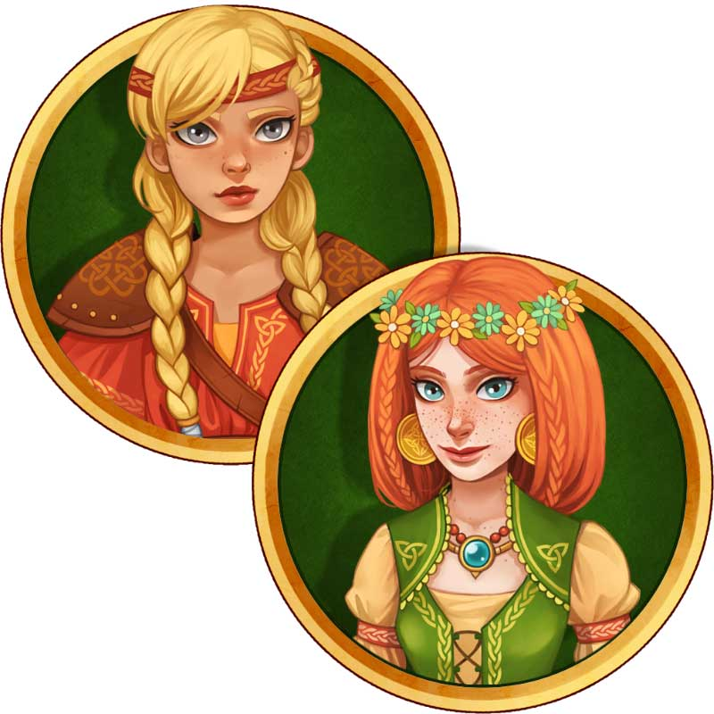Helga and Brunhilda - Viking Sisters Time Management Game - GameHouse