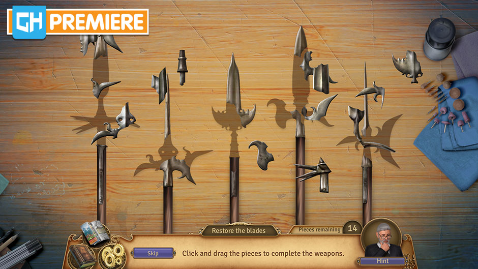 Faircroft's Antiques - Treasures of Treffenburg Collector's Edition - GameHouse Premiere Exclusive - Antique Weapons