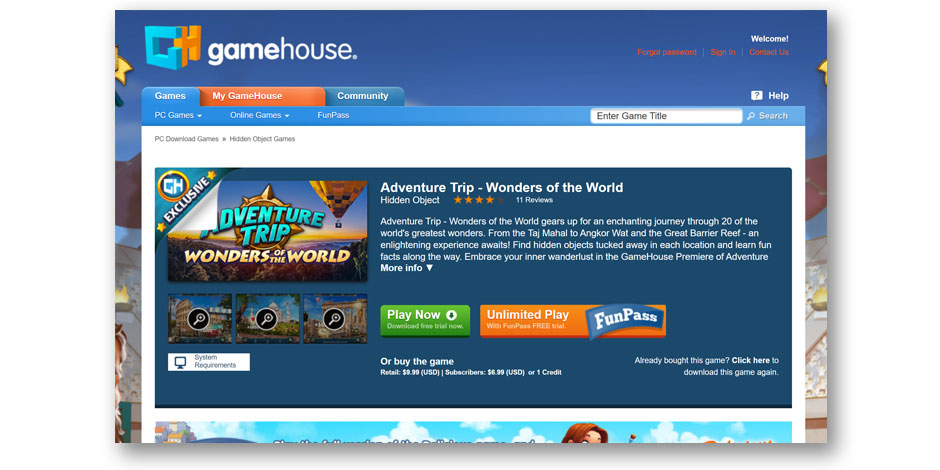 Adventure Trip - Wonders of the World - GameHouse Premiere Exclusive