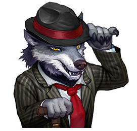Rose Riddle - Wolf Character Art - GameHouse