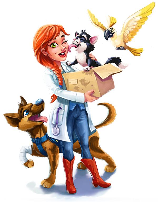 Dr. Cares - Pet Rescue Amy Art - GameHouse