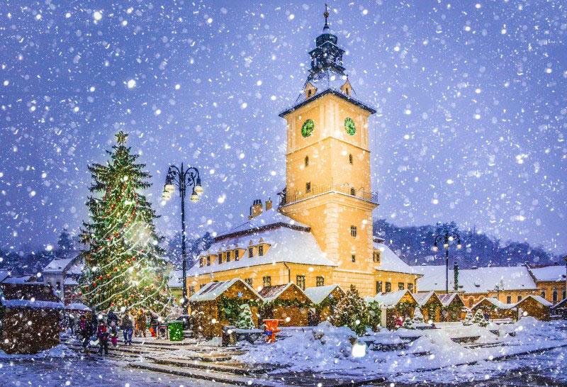 A storybook Christmas in Brasov, Romania.