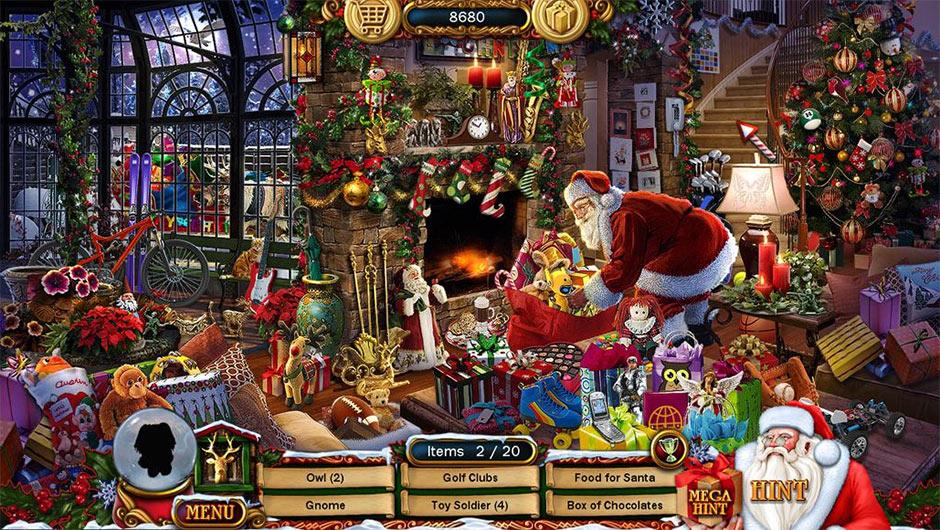 Christmas Wonderland - Santa puts presents under the Christmas Tree