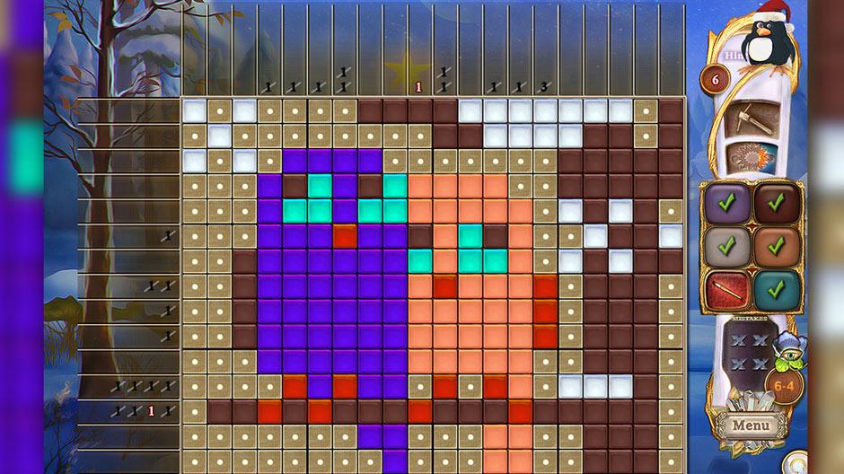 Fantasy Mosaics 44 - Winter Holiday - GameHouse