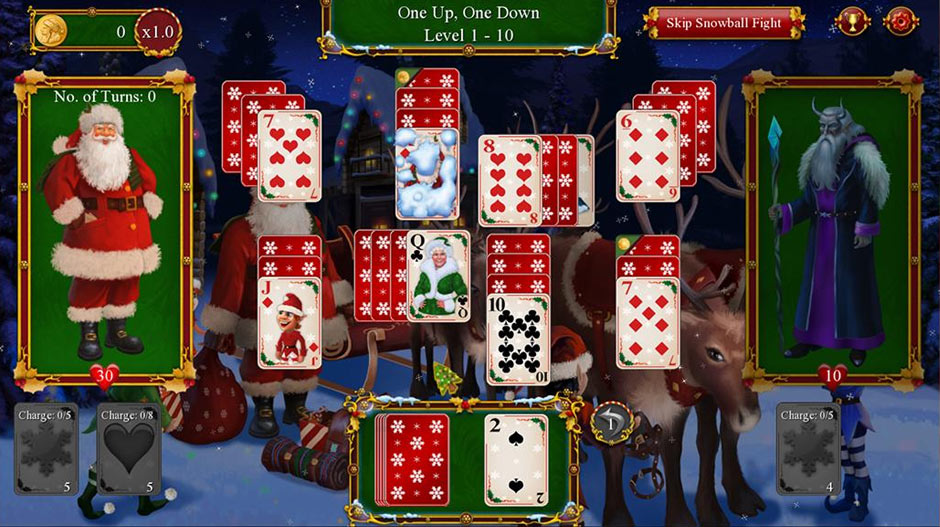 Santa's Christmas Solitaire Series - Card Games - GameHouse