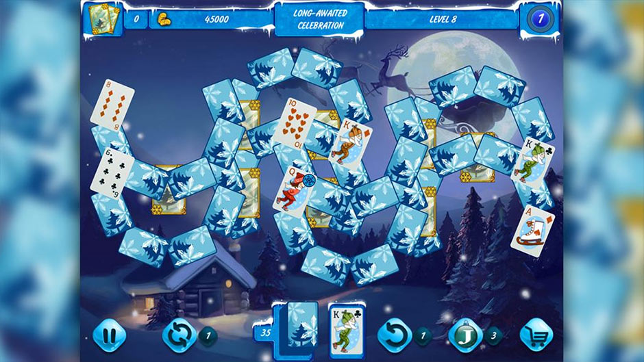 Solitaire Jack Frost Winter Adventures 3 - GameHouse