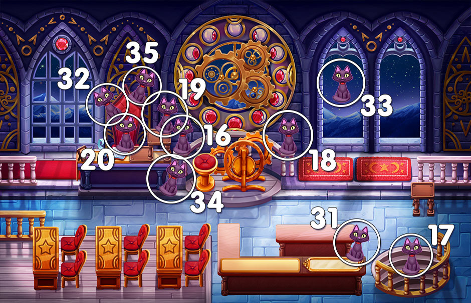 Arcane Arts Academy - All Sphinx the Cat Locations - Clocktower