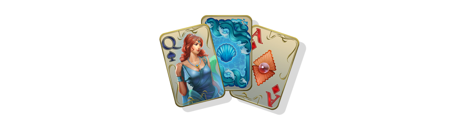 Jewel Match Atlantis Solitaire 2 Collector's Edition Cards - GameHouse Premiere Exclusive