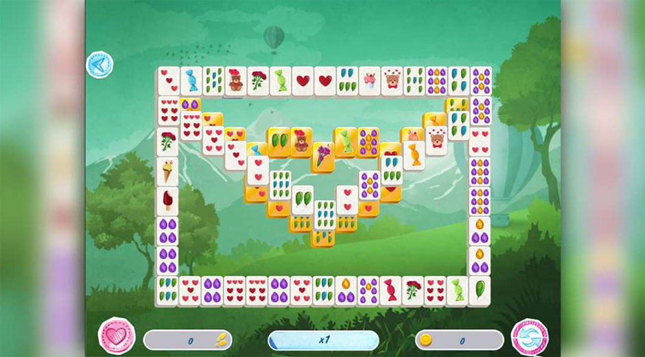 Mahjong Valentine's Day - GameHouse Mahjong Games