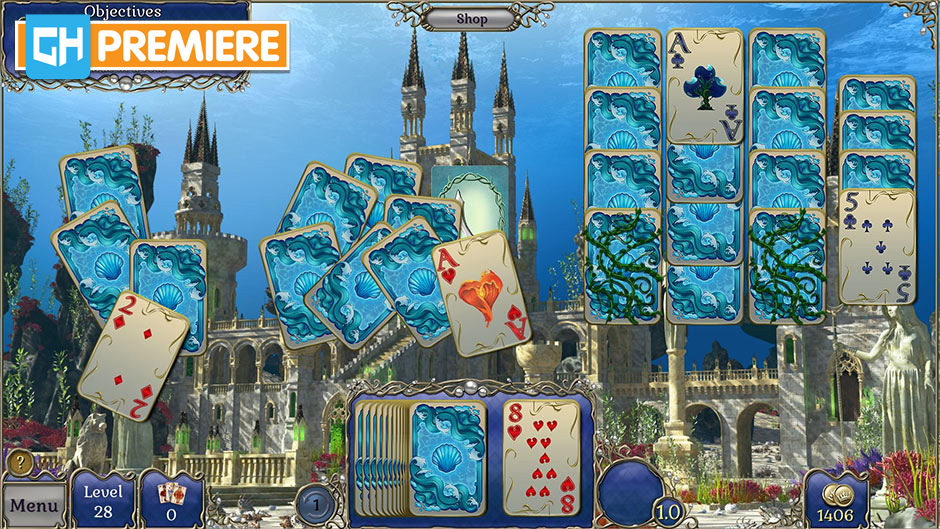 Jewel Match Atlantis Solitaire 2 Collector's Edition - GameHouse Premiere Exclusive
